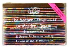 Moeder's geuren - 21 geuren x 4 korte stokjes + wierookhouder