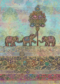 E014 Indian Elephants - BugArt
