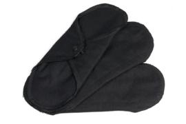 ImseVimse wasbaar Normaal maandverband - 3 stuks - zwart 100% Organic Cotton