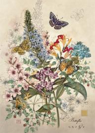 D162 Botanical Butterflies - BugArt