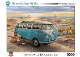 The Love & Hope VW bus - Greg Giordano - 1000 - puzzel