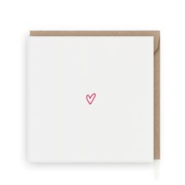 Roze hart wenskaart - Grafiquelien