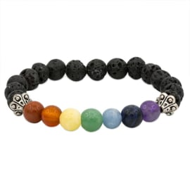 Chakra Lava steen armband