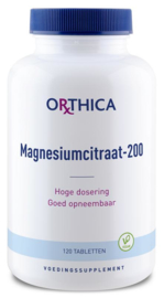 Magnesiumcitraat 200	- 120 tabletten