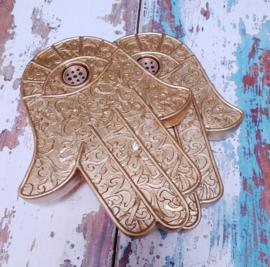 Wierookbrander Gouden Hamsa Hand / Hand of Fatima