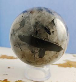 Toermalijnkwarts bol - 6,5 cm doorsnede