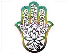 Hand van Fatima - Hamsa hand - gepassiveerd staal - 60 cm