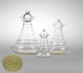 Vitaalwaterkaraf Golden Alladin met Bloem des Levens Goud 1,3 liter