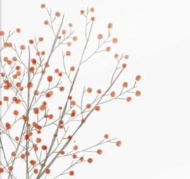 Rode besjes wenskaart - Grafiquelien