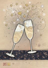 D190 Champagne Glasses - BugArt