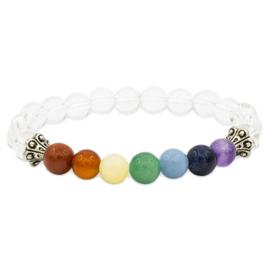 Chakra armband - bergkristal