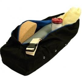Yogamat tas - kleur zwart, met grijze binnenvoering