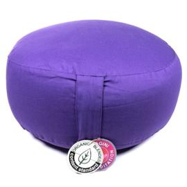 Violet Bio Katoen meditatie kussen