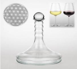 Vitaal wijnkaraf Rubellum met Bloem des Levens wit 1 liter