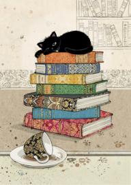 H032 Books Kitty - BugArt