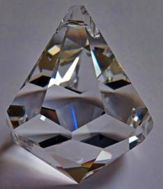 Karbonkel 30 mm / Swarovski kristal