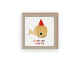 Walvis verjaardagskaart - Grafiquelien