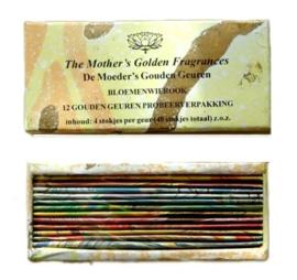 Gouden geuren assortimentsdoosje - 12 geuren x 4 korte stokjes