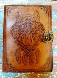 Leatherlook dagboek Wolf