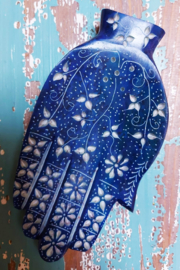 Wierookbrander Hamsa Hand - blauw