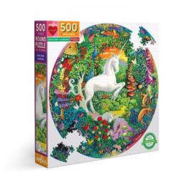 Unicorn Garden - 500 - ronde puzzel