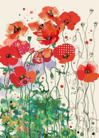 B031 Red Field Poppies - BugArt