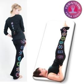 Yoga chakra broek katoen zwart S