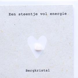 Wenskaart edelsteen - Bergkristal