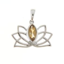 Citrien Lotus hanger NEW / Zilver
