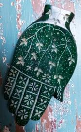Wierookbrander Hamsa Hand - donker groen