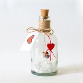 Fles XL Bruidspaar - Hoera Getrouwd