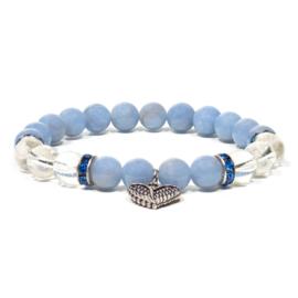 Angeliet / bergkristal armband