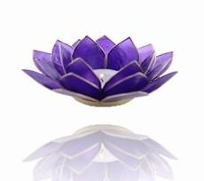 Lotus Sfeerlicht - 6e Chakra - Indigo / Donker Blauw met Gouden Rand