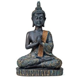 Boeddha in Gebed antiek look Thailand