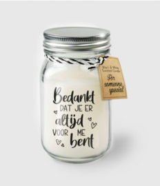 Scented Candles 13 - Bedankt