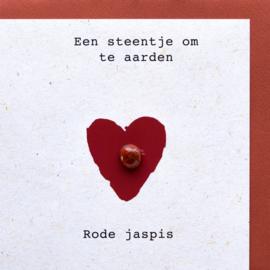 Wenskaart edelsteen - Rode Jaspis