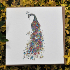 Floral Peacock
