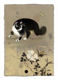 D169 Cat & Butterflies - BugArt