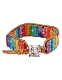 Chakra leren armband gipsy-style