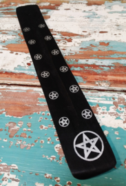 Wierookplankje 25 cm - zwart wit * pentagram