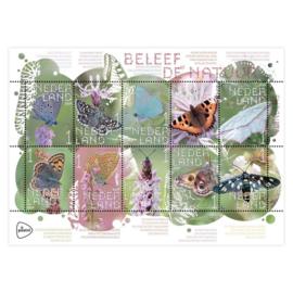 Vlinder postzegels - 10 stuks