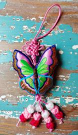 Tibetaanse geluks Vlinder - roze