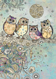 E035 Four Owls - BugArt