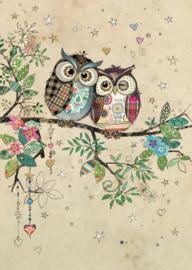 D183 Owl Couple  - BugArt