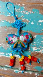 Tibetaanse geluks Vlinder - blauw