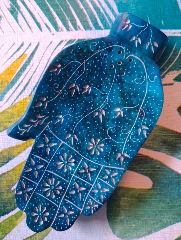 Wierookbrander Hamsa Hand - Turquoise