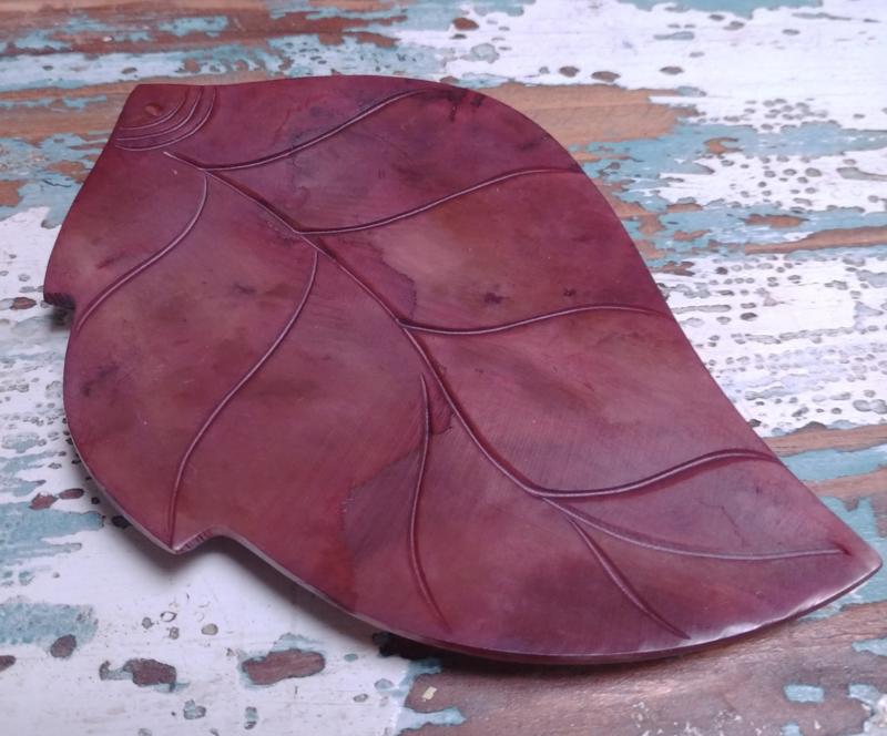 Parelmoer blad - rood