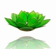 Lotus Sfeerlicht - 4e Chakra - Groen met Gouden Rand