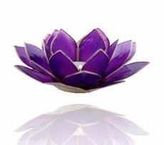 Lotus Sfeerlicht - 7e Chakra - Violet / Paars met Zilveren Rand