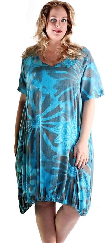 Bali tuniek Ideal - Turquoise print